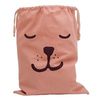 Tellkiddo Sleeping Bear Fabric Bag Dusty Pink Dusty Pink