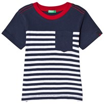 United Colors of Benetton Stripe Tee Navy Navy