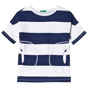 Image of United Colors of Benetton Striped Dress Navy L (8-9 år) (1088217)