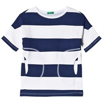 United Colors of Benetton Striped Dress Navy Navy