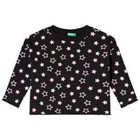 United Colors of Benetton Star Print Sweater Black Black