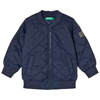 United Colors of Benetton Quilted Bomber Jacket Navy Laivastonsininen