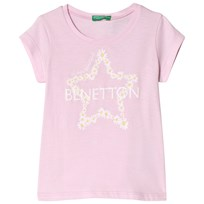 United Colors of Benetton Printed T-Shirt Candy Pink Candy Pink