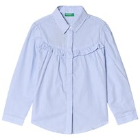 United Colors of Benetton Frill Shirt Blue Blue