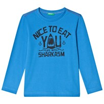 United Colors of Benetton Shark T-Shirt Bright Blue Bright Blue