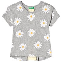 United Colors of Benetton Daisy T-Shirt Grey Black