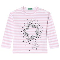 United Colors of Benetton Stripe T-Shirt Pink Pink