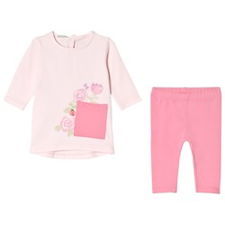 United Colors of Benetton Top and Leggings Set Candy Pink