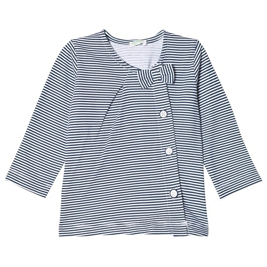 United Colors of Benetton Striped Tee Blue/White Blue & White