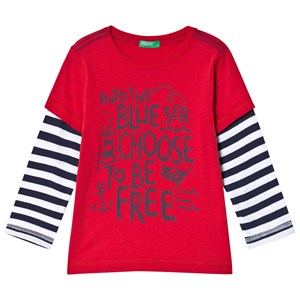 Image of United Colors of Benetton Sea T-Shirt Red 2Y (18-24 mdr) (3018745909)
