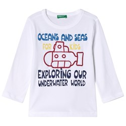 United Colors of Benetton T-shirt L/S White