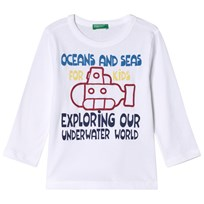 United Colors of Benetton Long Sleeve Tee White White