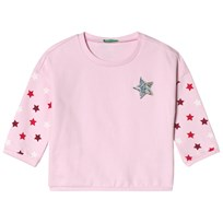 United Colors of Benetton Star Print Tröja Candy Pink Candy Pink