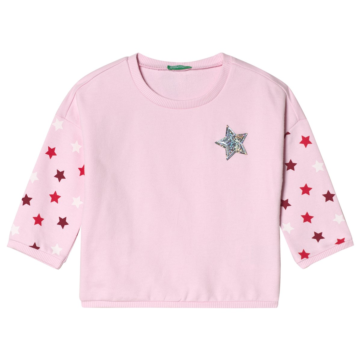 united colors of benetton star print sweater candy pink. BABYSHOP d156cca03759a