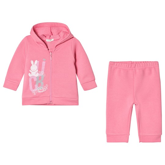 United Colors of Benetton Jacket and Sweatpants Set Candy Pink Candy Pink