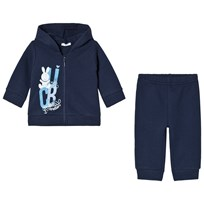 United Colors of Benetton Jacket and Sweatpants Set Navy Navy
