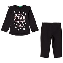 United Colors of Benetton Sweater and Pants Set Black Black