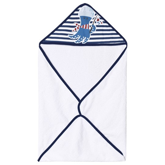 United Colors of Benetton Bath Towel White & Blue White & Blue