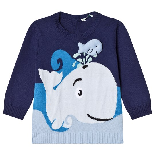United Colors of Benetton Whale Sweater Navy Navy