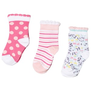 Image of United Colors of Benetton 3-Pack Knitted Socks Pink Multi 62 (3-6 mdr) (3018746295)