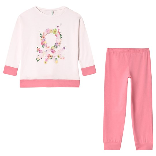 United Colors of Benetton Pyjama Set Pink Pink