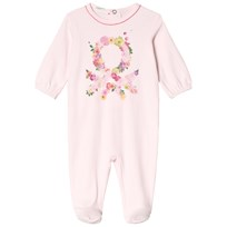 United Colors of Benetton Floral Footed Baby Body Pink Baby Pink