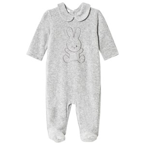 Image of United Colors of Benetton Bunny Footed Baby Body Grey Melange 74 (9-12 mdr) (3018746249)