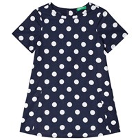 United Colors of Benetton Spotted Dress Navy Navy