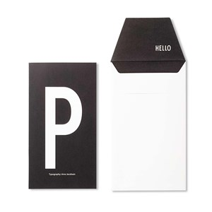 Image of Design Letters Personal Greeting Card - P (3018746991)