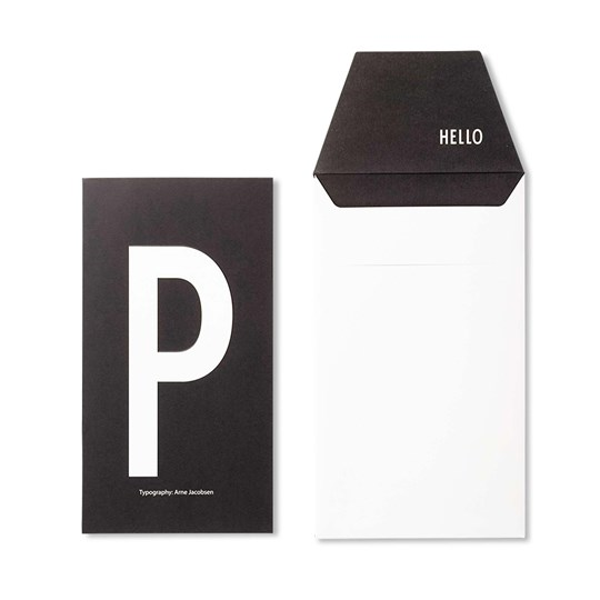 Design Letters Personal Greeting Card - P White