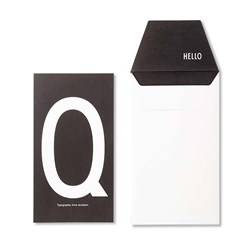 Design Letters Personal Greeting Card - Q