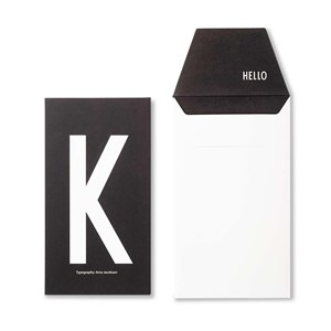 Image of Design Letters Personal Greeting Card - K (3018746995)