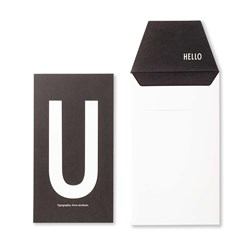 Design Letters Personal Greeting Card - U