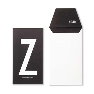 Image of Design Letters Personal Greeting Card - Z (3018747005)