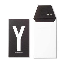 Design Letters Personal Greeting Card - Y
