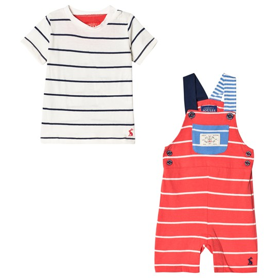 Tom Joule Duncan Jersey Overall Set Melon Red Strip MELON RED STRIPE
