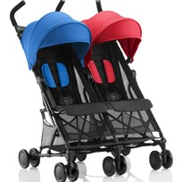 Britax Holiday Double Stroller Red/Blue Red/Blue Mix