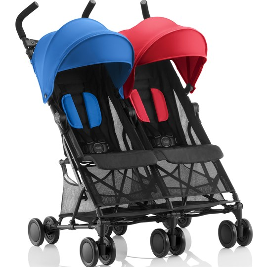 Britax Holiday Syskonvagn Röd/Blå Red/Blue Mix