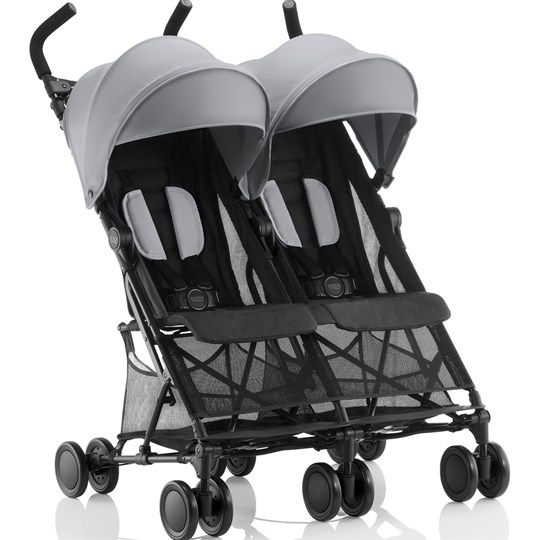 Britax Holiday Double Stroller Steel Grey Steel Grey