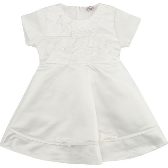 Jocko Baby Dress White White