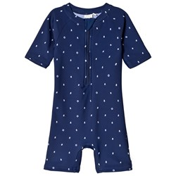 ebbe Kids Bing Beach Suit Mini Boats Dark Navy
