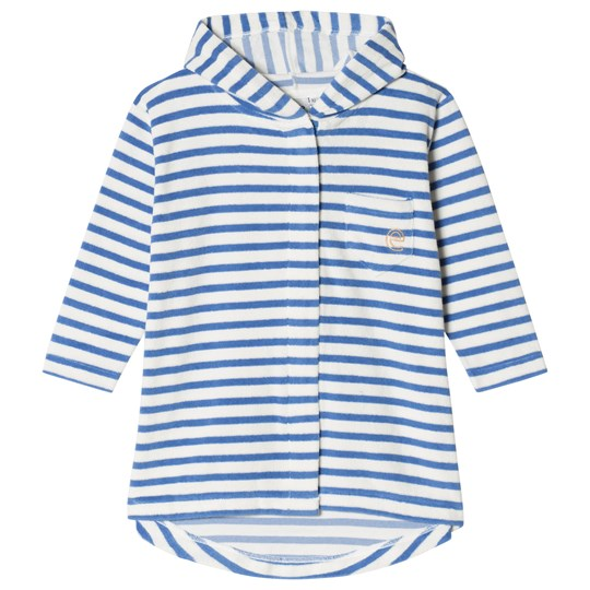 ebbe Kids Bard Bathrobe Off White and Riviera Blue Offwhite/Riviera Blue