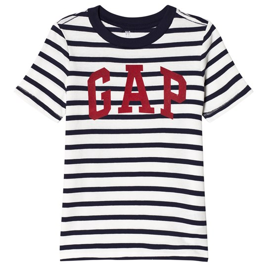 GAP Stripe Logo T-Shirt Dark Night NEW OFF WHITE