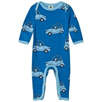Småfolk Cendre Blue Car Print One-Piece 713