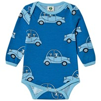 Småfolk Cendre Blue Car Print Baby Body 713