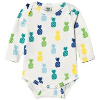 Småfolk Cream Pineapple Print Baby Body 714