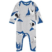 Småfolk Grey Mix Shark Print One-Piece 236
