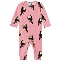 Småfolk Pink Toucan Print One-Piece 502 Blush