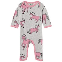 Småfolk Grey Horses Print One-Piece 236