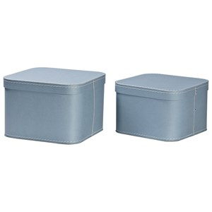Image of Bigso Box of Sweden 2-Pack Ludvig Nesting Storage Boxes Dusty Blue (3019786303)